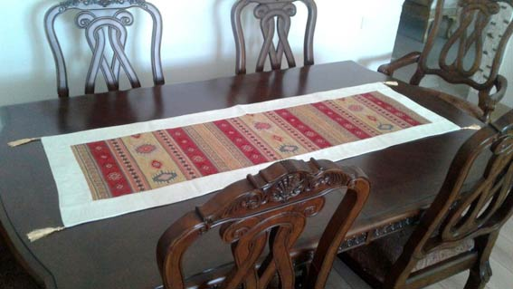 Table Runners ve Cuhion Covers Turkish