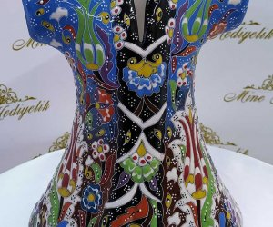 Dekoratif Kutulu Kurumsal Hediyelik  El Yapımı Çini Seramik Kaftanlar Modelleri  Osmanlı Padişah Bibloları