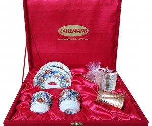 Kadife Kutuda Bakır Cezveli İkili Kahve Setleri  kurumsal hediyelik eşyalar toptan fiyatları