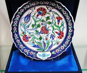 Kutulu Hediyelik Logolu Çini Tabaklar